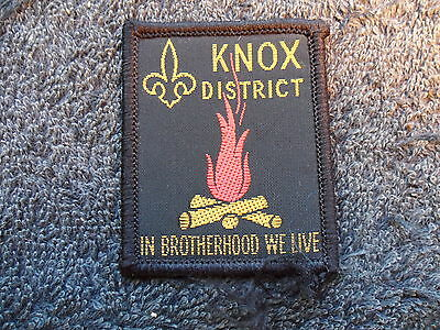 Knox District Scout Cloth Badge ^