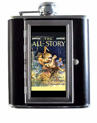 1912 Tarzan of the Apes Edgar Rice Burroughs 5oz Flask Cigarette Case ID Wallet