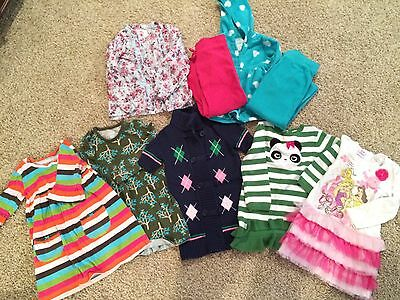 EUC Lot Of 9 Size 3-4T Girls Clothes!