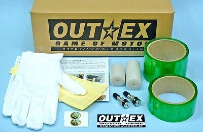 Tubeless Conversion Kit Front EXCEL 21×2.15 / Rear MORAD 17,18×4.25 MT OUTEX