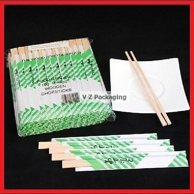 200 Pairs 2 Pack Take Away Wooden Disposable Chopsticks Pack Bulk Qty BEST PRICE