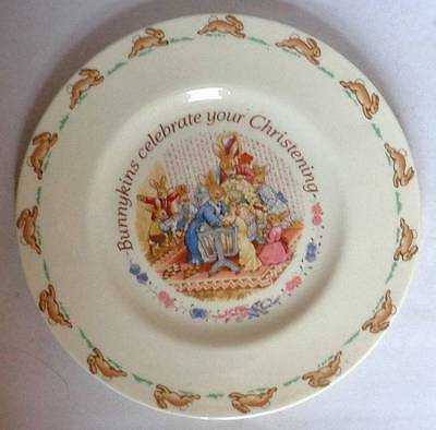 Royal Doulton 'Bunnykins' Celebrate Christening Plate Collectable/Decorative