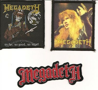 3 awesome Megadeth patches vintage Dave Mustaine