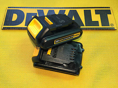 DeWALT 20V MAX DCB207 LITHIUM ION COMPACT BATTERY PAIR TAX & SHIPPING INCLUDED