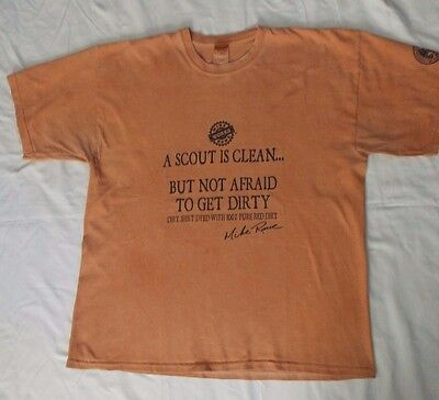 """Boy Scouts/Mike Rowe """"Scout is Clean"""" Tshirt, mens size XL, 2010 Jamboree"""