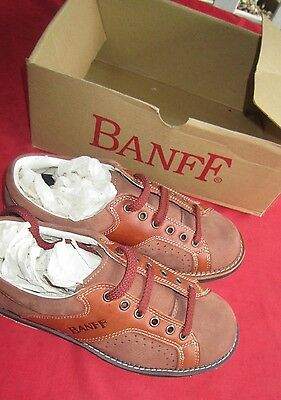 Ladies Mens BOWLING SHOES LEATHER Brown SHOES Size 6 Fit Never WORN Great Condit