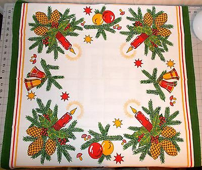 "Vintage Christmas Table Topper 29"" Square"