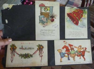 Vintage Lot of 10 Postcards Greeting Cards Holiday