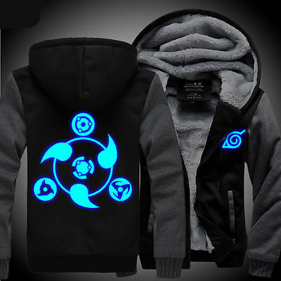 Anime NARUTO Akatsuki Clothing Thicken Jacket Cosplay Sweater Hoodie Luminous