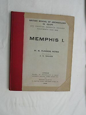 1909 Egyptian archeology book MEMPHIS I by W.M. Flinders Petrie