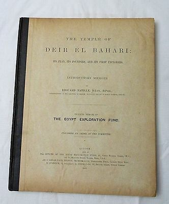 1894 Egyptian archeology book TEMPLE OF DEIR EL BAHARI by Edouard Naville