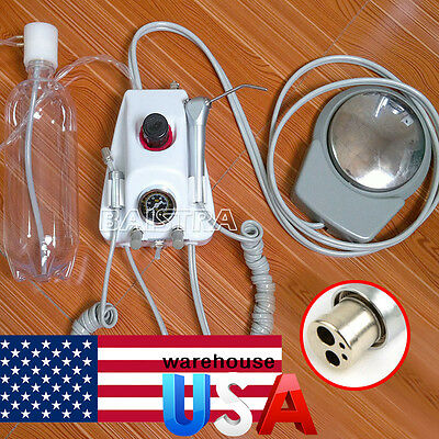 USA Dental Lab Portable Air Turbine Unit fit Compressor 4 Holes Handpiece Syring