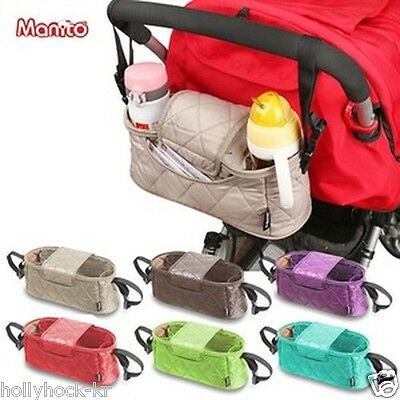 [Manito] Handy Stroller Organizer Bag Cup Holder for Baby Stroller