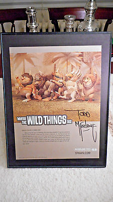 Where the Wild Things are  Promo  AUTOGRAPHED by Todd McFarlane