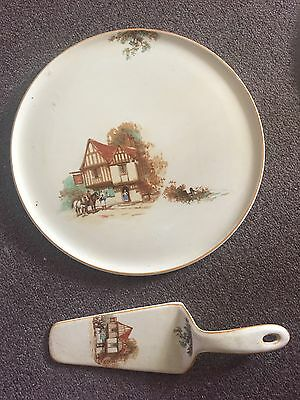 Tunstall Large Cake Plate And Server