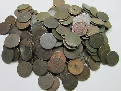(5) Random Mixed 1800's Large Cent Lot // 5 COINS // (LCL050)