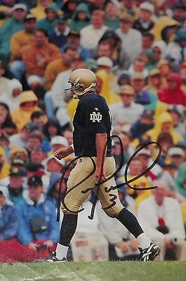 Ron Powlus Notre Dame signed photo