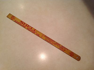 Vintage Shell Oil Company Gas Can Fuel Measuring Stick Gas Station Auto Car Serv