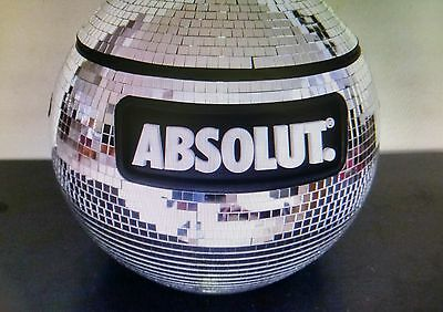 New Absolut Vodka Shimmering Disco Ball Cooler Party