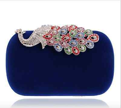 HOT Exquisite Pearl Rhinestones Peacock Design Women Ball Evening Clutch Bags