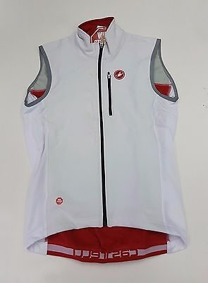 Castelli Winter Men's Isterico Cycling Vest White Red Size M