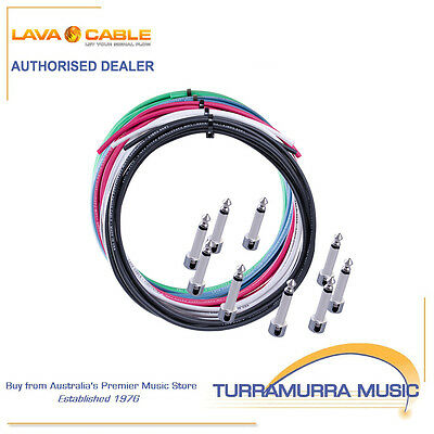 Lava Cable High End Tightrope Pedalboard Patch Lead Kit DIY Solder Free w Plugs