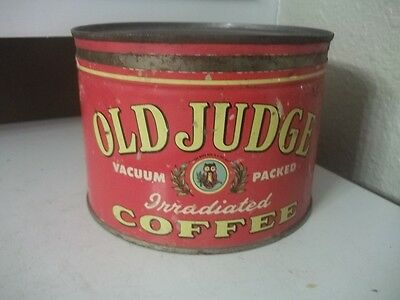 Vintage OLD JUDGE Coffee Tin ADVERTISING ESTATE FIND