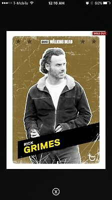 Topps RICK GRIMES The Walking Dead Card Trader S2 The Challengers Olive cc 1of10