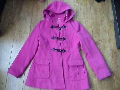 Girl's Pink Hooded Coat Age 12-13yrs