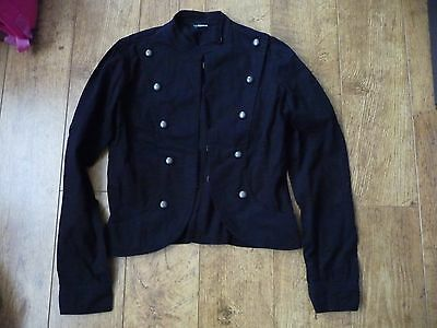 Girl's Black Military Style Black Jacket 164/170