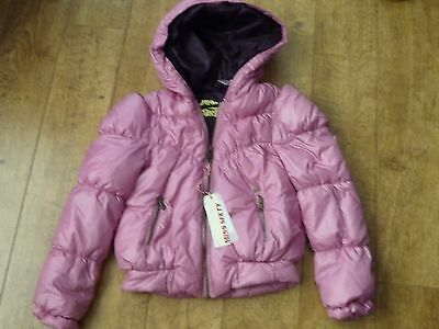 Miss Sixty Designer Girls hooded Pink Padded Jacket Age 10yrs
