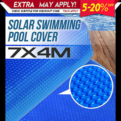NEW SOLAR SWIMMING POOL COVER 7m X 4m Outdoor Bubble Blanket Heat Absorption