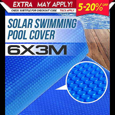 NEW SOLAR SWIMMING POOL COVER 6m X 3m Outdoor Bubble Blanket Heat Absorption