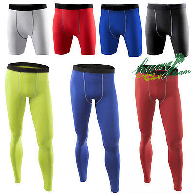 Mens Compression Shorts Base layer Under Armour tight pants Shirt Long Bottoms