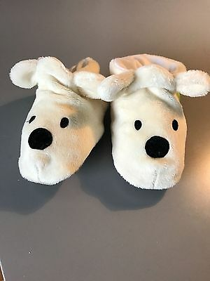 Funky Feet Baby's Soft Soled Slippers - Polar Bear