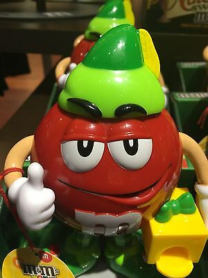 M&M's World Red Character Holiday Candy Dispenser New with box