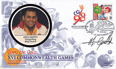 "1998 Commonwealth Games - Benham ""Special"" - Signed by LEON GRIFFIN (Cover A)"