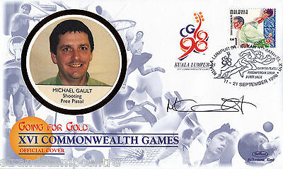 "1998 Commonwealth Games - Benham ""Special"" - Signed by MICHAEL GAULT (Cover A)"