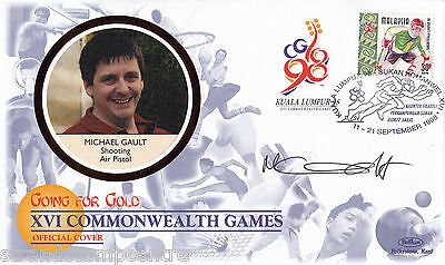 """1998 Commonwealth Games - Benham """"Special"""" - Signed by MICHAEL GAULT (Cover B)"""
