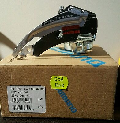 ▪ Shimano Tourney FD-TX51 Front Derailleur 3 Speed Suits 28.6mm/ 31.8mm/ 34.9mm