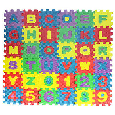 36Pc Baby Kids Alphabet Educational Puzzle Blocks Pad Infant Child Game Toy Gift