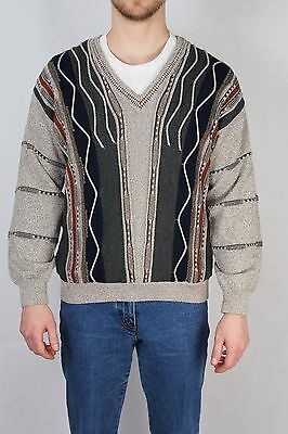 Vintage Strickpullover Wie Carlo Colucci Wollpulli Sweater - Made in Italy