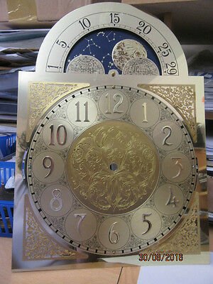 Grandfather/Longcase Clock Dial With Moon Phase