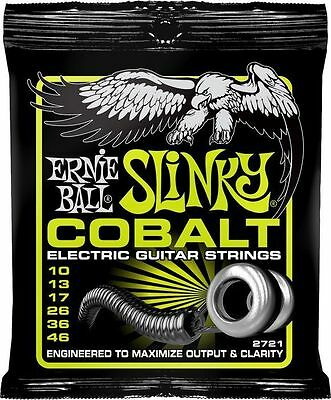 Cobalt Regular Slinky Ernie Ball Electric Guitar Strings Set 10-46