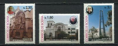 37186) BOLIVIA 1994 MNH** Churches 3v