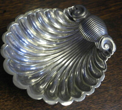 antique silver plate shell shape SUGAR BOWL
