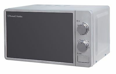 Grade B Russell Hobbs 17L Silver Manual Microwave, 5 Power Levels, 700W RHMM703S