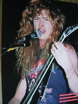 Megadeth (Dave Mustaine) - Magazine Cutting (Full Page Photo) (Ref Z3B)