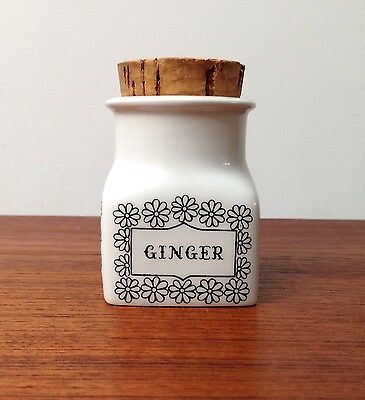VINTAGE MID CENTURY FINLAND ARABIA POTTERY GINGER SPICE JAR 60's
