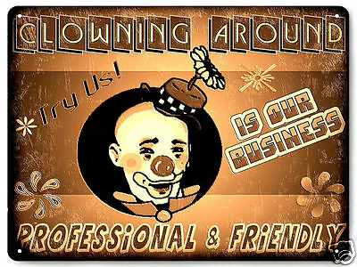 Clown funny metal sign colletible great gift Wall decor vintage style decor 140